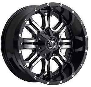 Tis 535mb 2096812 Single 20x9 Gloss Black W Machined Face 535mb 12 Offset Wheel
