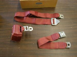 Nos Oem Ford 1971 1972 1973 Galaxie 500 Ltd Seat Belt Dark Red