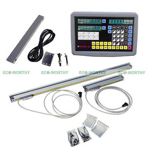 Cnc 2 Axis Dro Kit digital Readout Linear Glass Scale 1000mm 250mm Travel