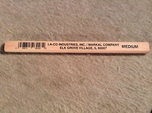 Box Of 144 La co Markal 96928 1 2 Gross Medium Lead Carpenter s Pencils New
