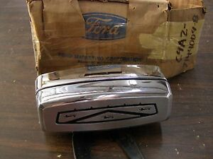 Nos Oem Ford 1969 1970 1971 Galaxie Ltd Station Wagon Tail Gate Handle Ornament