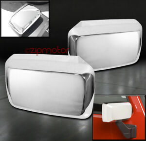 06 10 Hummer H3 H3t Pickup Side Door Mirror Covers Trim Moulding Chrome 07 08 09
