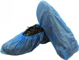 600 Pieces Disposable Corrugated Polyethylene Shoe Working Boot Blue Covers
