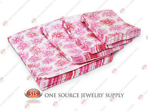 Lots Of 1000 Pink Flower Merchandise Bags Gift Bags Store Bags Paper Bags