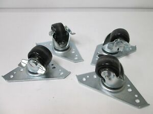 Lot Of 4 Misumi Hchjs65 Casters Wheel Diameter 65mm With Stopper