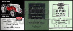 1939 1947 Ford 2n 9n 3 Manual Set Tractor Owners Guide Repair Shop Book Assembly
