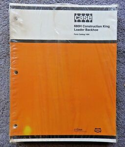 Genuine Case 680 680h Construction King Tractor Parts Manual Catalog Mint Sealed