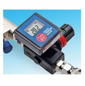 Digital Spray Paint Gun Air Pressure Regulator Gauge Free Shipping