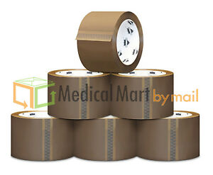 144 Rolls Brown Tan Carton Sealing Packing Tape Box Shipping 3 1 8 Mil 110 Yd