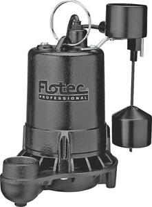 New Flotec E75vlt 3 4 Hp 88gpm Cast Iron Submersible Sump Pump Sale 8840902
