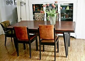French Modernist Mid Century Dining Room Table Guenot