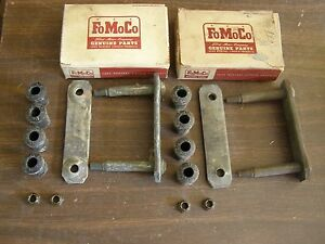 Nos Oem Ford 1949 1950 Rear Spring Shackle Kits Custom Customline Crestliner