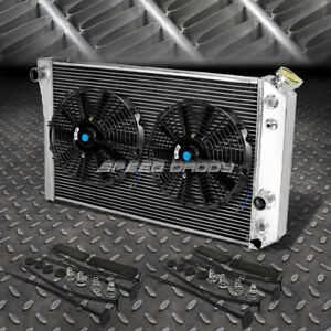 3 Row Aluminum Radiator 2x 9 Fan Black For 82 02 Chevy S10 Blazer Corvette V8