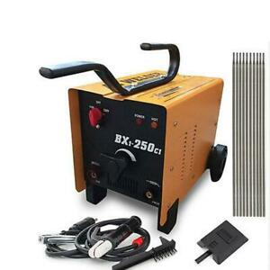 Arc Welder 110 220v Ac Mig Welding Machine 250 Amp Face Mask Torch Accessories