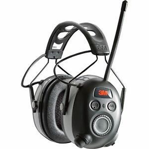 3m Worktunes Earmuffs W bluetooth Am fm Radio mp3 Offers Hrg Protection 25db