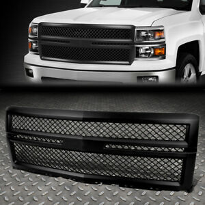 For 14 15 Silverado 1500 Gmt K2xx Front Upper Black Abs Square Mesh Style Grille