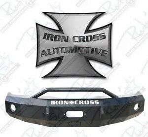 Iron Cross Hd Push Bar Front Bumper For 2006 2009 Dodge Ram 2500 3500 22 625 06