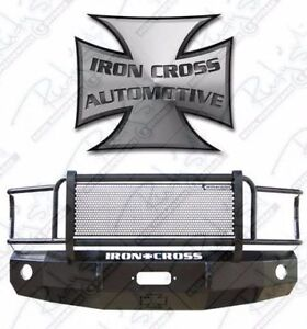 Iron Cross Hd Grille Guard Front Bumper For 2003 2005 Dodge Ram 2500 3500