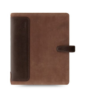Filofax Holborn Nubuck Organizer planner A5 Brown Leather 026041 New Item