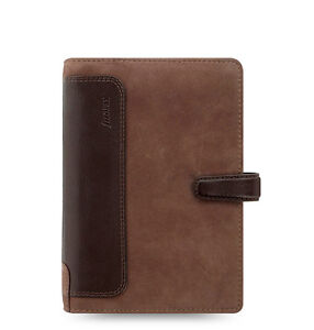 Filofax Holborn Nubuck Organizer planner Personal Size Brown Leather 026040