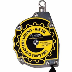 Guardian Fall Protection Edge Series Web Self retracting Lifeline 11ft l