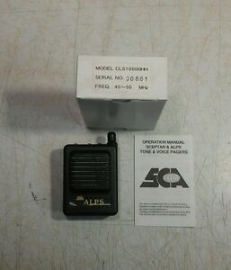 New Sca Alps Low Band 45 50 Mhz Vhf 2ch Tone Voice Pager Vibrate Sp av03