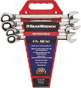 Gearwrench 9545n 4 Piece Reversible Double Box Ratcheting Socketing Wrench