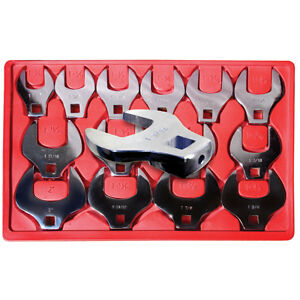 V8 Tools 7814 Crowfoot Wrench Set 14 Piece 1 2 Drive 1 1 6 To 2