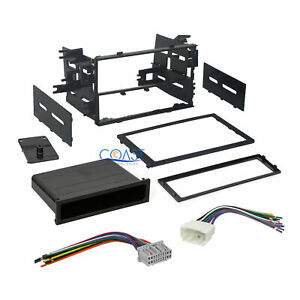Car Radio Stereo Single Double Din Dash Kit Harness Combo For Honda 1999 2011