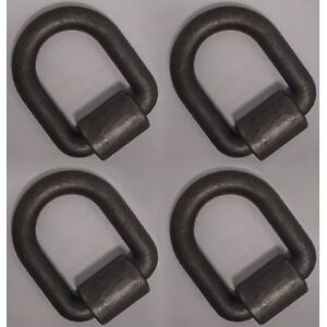4 1 Weld on D ring With Clip Truck Trailer Hook Chain Tie Down 47 000 Lb