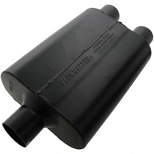 Flowmaster 9425472 Super 44 Steel Muffler 2 5 Center Inlet 2 5 Dual Outlet