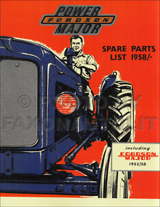 1952 1961 Fordson Major And Power Major Tractor Parts Book Illustrated Catalog