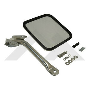 Mirror Arm Left Stainless Jeep Cj 1955 1986 Rough Trail Rt30007