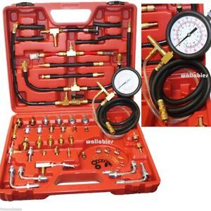Pro Deluxe Manometer Fuel Injection Pressure Tester Gauge Kit System 0 120 Psi