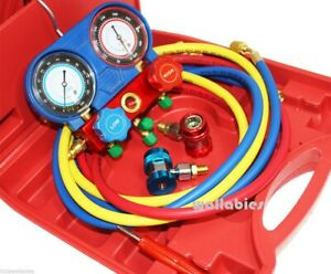 Hvac A C Refrigeration Kit Ac Manifold Gauge Set R22 R404a R134a