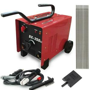 250 Amp Ac Arc Welder Machine 110 220 Dual Voltage Welding Accessories Set