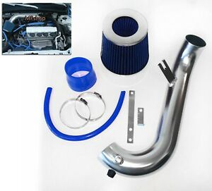 Blue For 2001 2005 Honda Civic 1 7l L4 Air Intake System Kit Filter