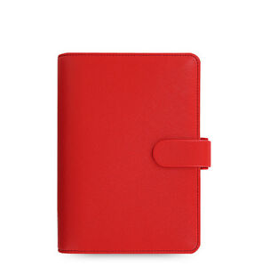 The Filofax Personal Size Saffiano Organizer Poppy Red 022473