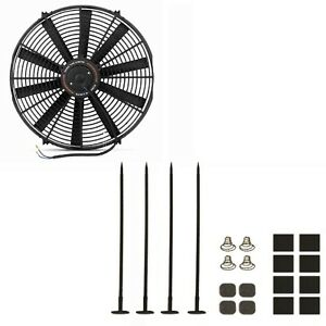 Mishimoto Universal Black 16 Slim Electric Radiator Cooling Fan