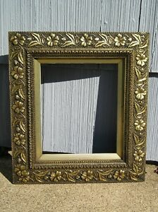 Rare Antique Aesthetic Eastlake Victorian Ornate Gold Floral Picture Frame 10 12
