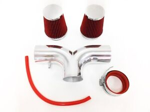 Dual Red For 1997 2000 Chevy Corvette C5 5 7l V8 Twin Air Intake Kit Filter