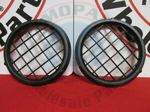 Jeep Wrangler Compass Patriot Black Mesh Fog Light Covers New Oem Mopar