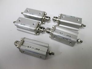 Lot Of 5 Smc Cqd120 30dm Pneumatic Compact Cylinders 12mm Bore 30mm Stroke