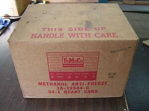 Nos Ford Anti Freeze Can 1950 s Oil Can Box Fairlane Thunderbird 1957 1958 1959