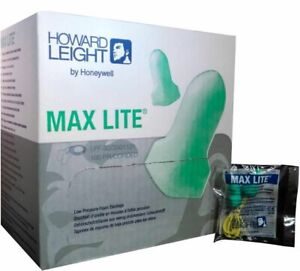Lpf 1 Howard Leight Max Lite Ear Plugs W cord 100 Pair box 10 Boxes Ms92255