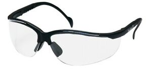 Pyramex Venture Ii Ms97250 Safety Glasses Clear Lens Black Frame 12 box
