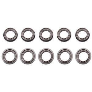 Us Stock 10pcs F6700zz Double Shielded Flanged Ball Bearings 10mm X 15mm X 4mm