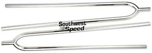 New 1928 34 Ford Model A Front Axle 29 Hairpin Radius Rods pair chrome rat Rod