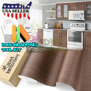 Teak Wood Textured Grain Decal Vinyl Wrap Sticker For Furniture Kitchen 1551