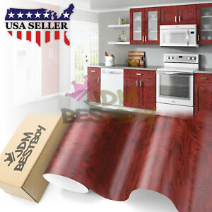12 x48 Wood Grain Vinyl Wrap Sticker Car Home Kitchen Desk Decoration 1301